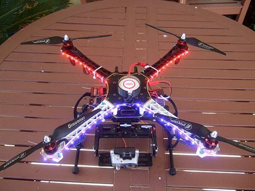 DJI F450 Flame Wheel Multirotor - LED Lights