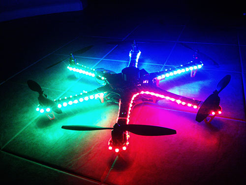 DJI F550 Flame Wheel Multirotor - T-Motor Intall & LED lights