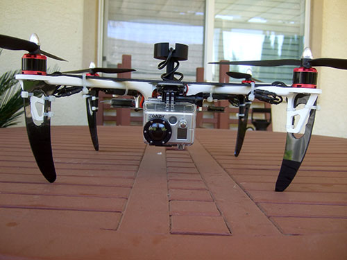 DJI F450 Flame Wheel Multirotor- Custom Camera Mount