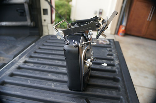HJ-H4 Reptile Quadcopter - Adjustable Quick Release FPV LCD Monitor Mount Bracket by Evolution 3D.