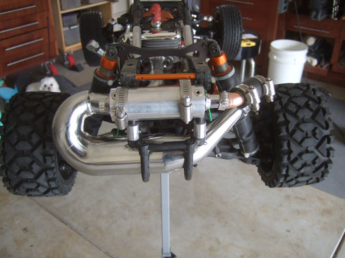 HPI Baja 5B SS - Upgrades - DDM Silencer with custom piping
