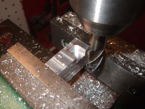 Savage 5T - This is my first cut and here is where the tabs that stick out from the A-Arms will drop in.